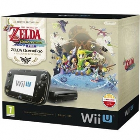 Nintendo Wii U 32GB The Legend of Zelda: Wind Waker HD Premium Pack - Black NEW