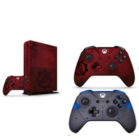 Microsoft Xbox One S 2TB - Gears of War 4 Limited Edition Red + Extra Controller