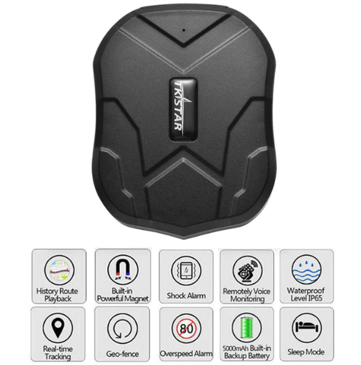 LEKEMI TK905 Strong Magnet GPS Tracker - BLACK