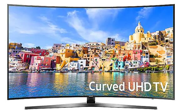 "Samsung UN65KU7500 65"" Curved Smart LED 4K Ultra HD TV"