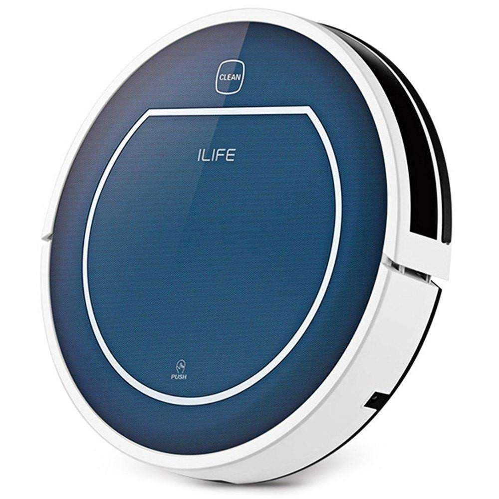ILIFE V7 Super Mute Sweeping Robot Home Vacuum Cleaner Dust Cleaning with 2500mAh Li-ion Battery - SAPPHIRE BLUE CHINESE PLUG