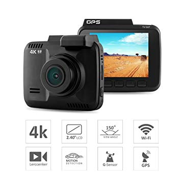 GS63H Car 4K DVR Camera - WiFi / GPS / Motion Detection / Loop-cycle Recording - BLACK