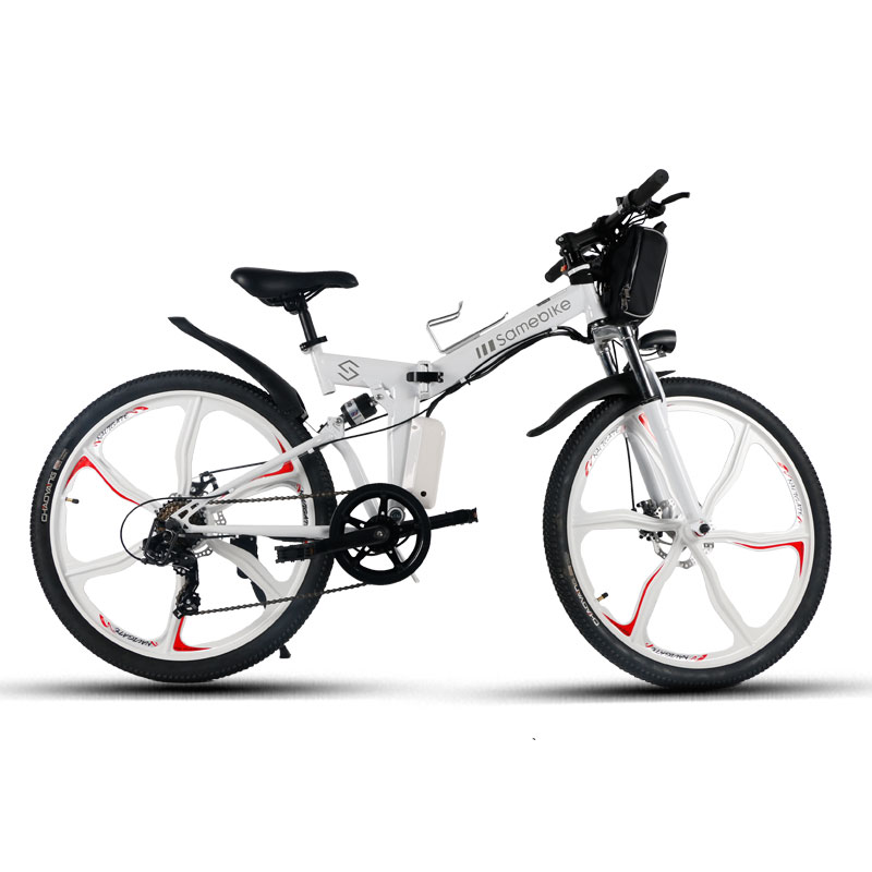 Samebike LO26 Moped Electric Bike Smart Folding Bike E-bike - WHITE EU PLUG
