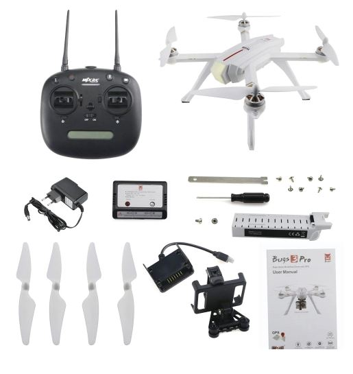 MJX Bugs 3 Pro WiFi FPV RC Drone Camera Altitude Hold Follow - WHITE NO CAMERA