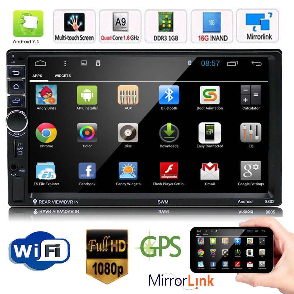 RM - CT0012 Android 6.0 Bluetooth GPS Stereo Car Player - BLACK