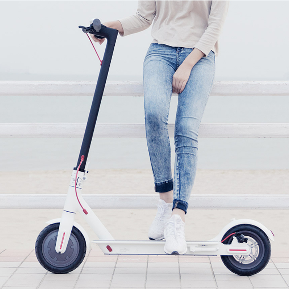 Cheap Xiaomi M365 Folding Electric Scooter Europe Version - WHITE