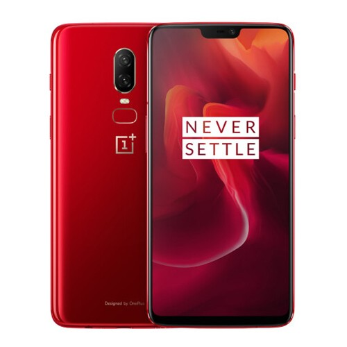 OnePlus 6 4G Phablet English and Chinese Version - RUBY RED