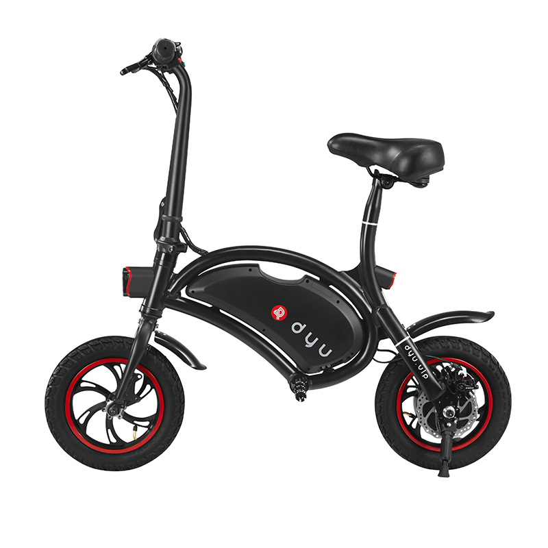 F - wheel D1 DYU Electric Bike 12 inch Wheels / Folding Design / Smart Controlling - BLACK