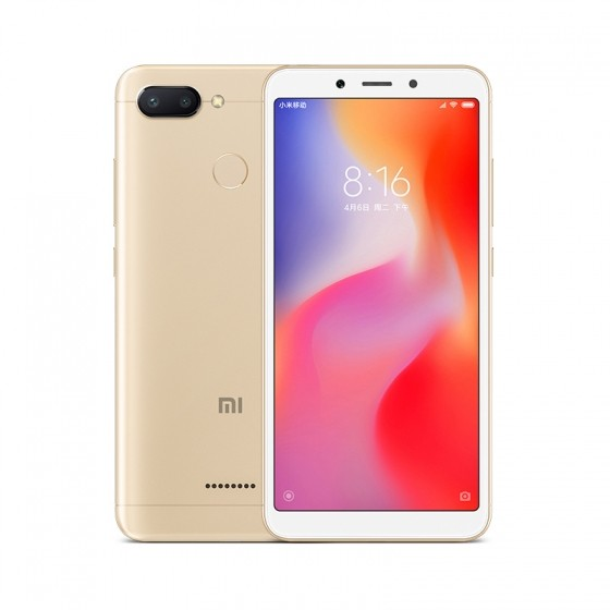 Xiaomi Redmi 6 4G Smartphone Global Edition - GOLD